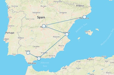 Trains In Spain Map.How Do I Know If I Need A Eurail Pass
