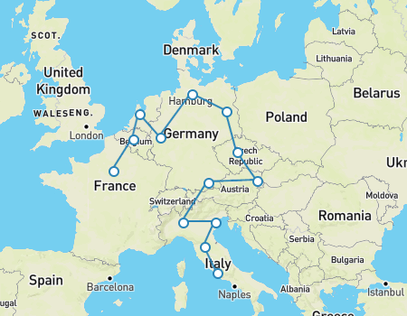 Best Way To Travel Europe For  Months