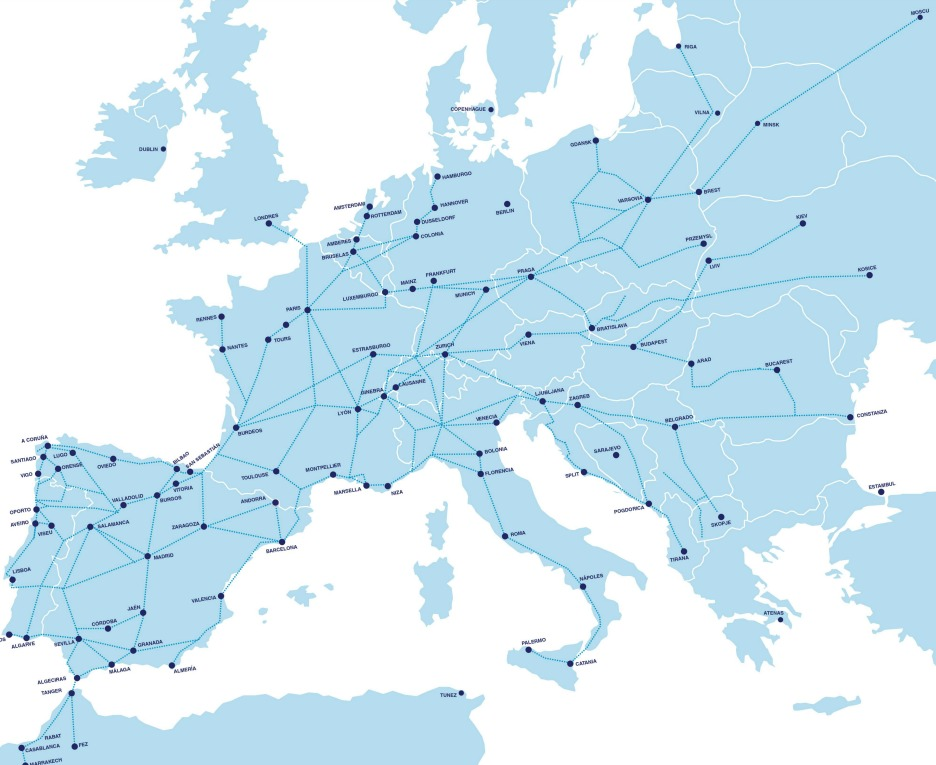 Mapa rutas Alsa