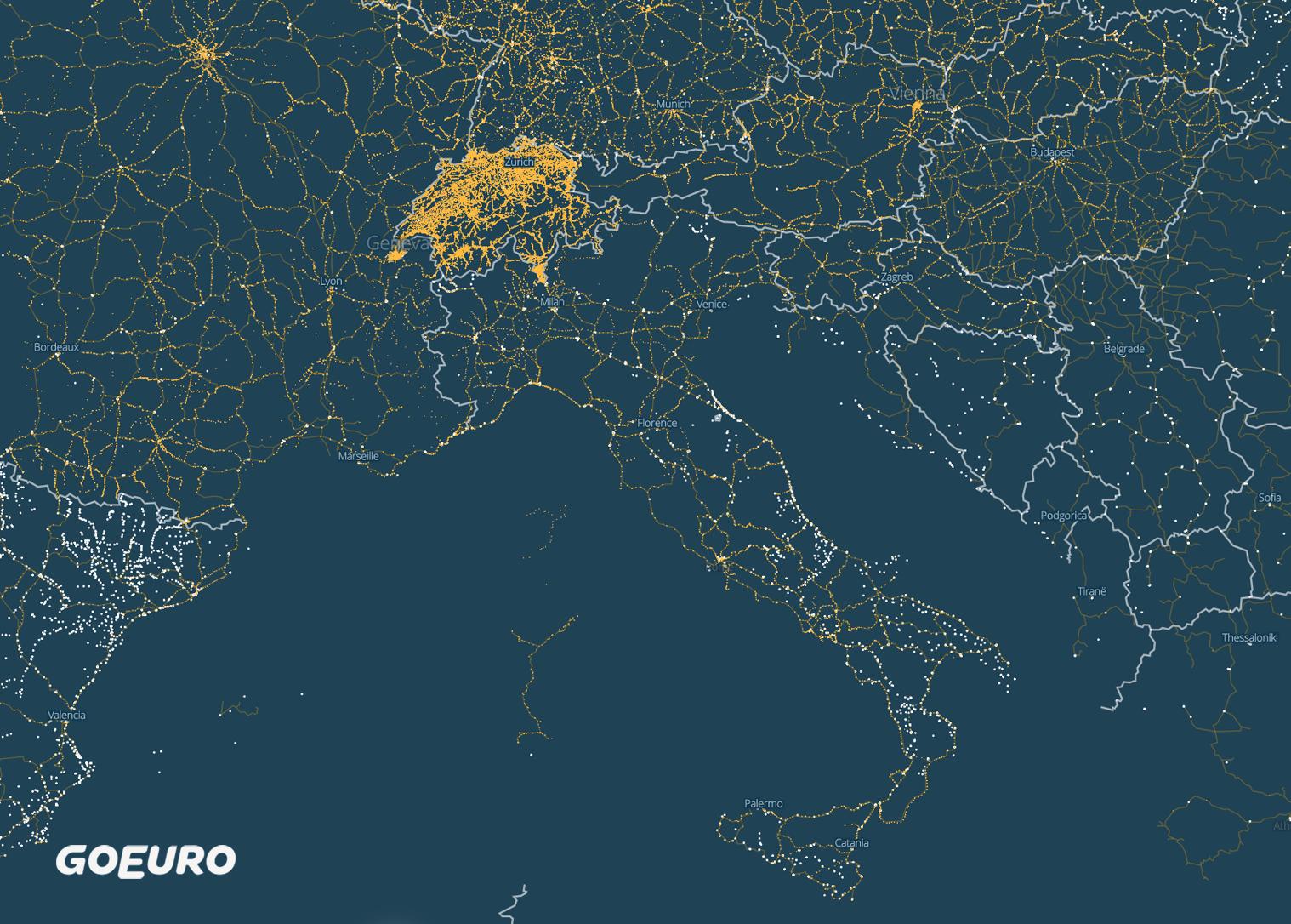Mappa Stazioni Ferroviarie