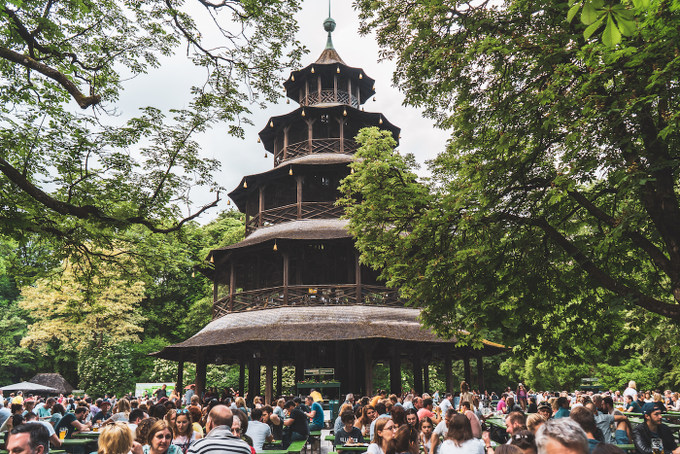 Chinesischer Turm im Englischen Garten in München